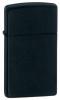 The Zippo Black Matte Slim lighter (model 1618)