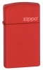 Zippo Red matte with Zippo logo lighter (1633L)