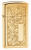 Zippo High Polish Brass 1652B Venetian Lighter