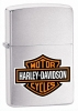 Zippo Harley Davidson Brushed Chrome Lighter Z200HDH252