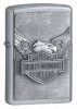 Zippo Iron Eagle Street chrome lighter (model 20230)