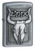 Zippo Bull Skull Emblem Street Chrome 20286 Lighter