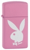 20831 Playboy Pink Slim Lighter Pink White Bunny