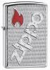 Zippo Bolted Z20991 Chrome Zippo Logo Red Flame