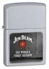 Zippo Jim Beam Rosette Satin Chrome Model 21018