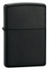 The Zippo Licorice Matte Black Finish Lighter 21064