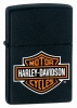 Zippo BLACK MATTE BAR & SHIELD - 218HDH252