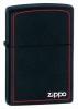 Black Matte Lighter With Zippo Logo & Border(218B)