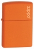 Orange Matte Windproof Lighter With Zippo Logo 231L