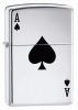 Zippo Lucky Ace Of Spades 24011 High Polish Lighter