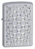 Zippo Cut Glass Satin Chrome Lighter (Model 24013)