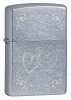 Zippo Heart To Heart 24016 Lighter Chrome 2 Hearts