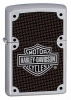 Zippo Harley Davidson Carbon Fiber Satin Chrome 24025 Lighter