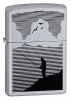 Zippo Night Fishing Satin Chrome Lighter (24066)