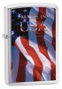 Zippo Made in USA Flag lighter brushed chrome -24797
