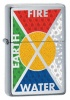 Zippo Bottomz Up Fire Wind Earth Water 24812