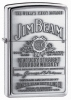 Zippo Chrome Jim Beam Pewter Emblem Lighter 250JB928