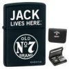 Zippo Jack Daniels Lighter / Card Set 28014 JD Logo