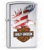 Zippo Harley American Flag Eagle Lighter (28082)