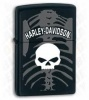 Harley Davidson Black Matte Skull Lighter 28085
