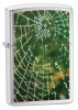 Zippo Spider Web Rain Drops Chrome lighter 28285