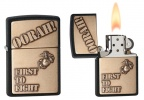 Zippo FIRST TO FIGHT BLACK CRACKLE - 28368