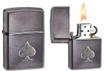 Zippo GRAY DUSK WITH  SPADE STAMP - 28379