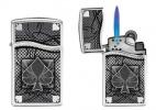 Zippo 30201 BLU2 High Polish Lighter with Spade Emblem