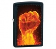 Zippo Fire Fist Black Matte Lighter Model 28308