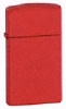 Zippo Slim Matte Red Lighter 1633