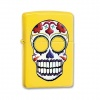 Zippo Day Of The Dead Bright Yellow Lighter
