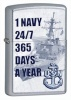 Zippo US NAVY 24/7 365 DAYS A YEAR - 28578