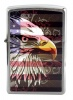 Zippo EAGLE FLAG BRUSHED CHROME - 28652