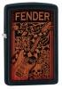 Zippo FENDER 2011 BLACK MATTE - 28733