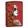 Zippo CAN APPLE RD SUGAR SKULL FEMAL - 28830