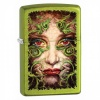 Zippo LURID/LADY FACE/GREEN VINES - 28865