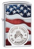 Zippo AMERICAN STAMP ON FLAG - 29395