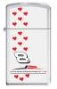 Zippo DALE JR. RED HEARTS SLIM - ZM1057