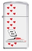 Zippo DALE JR. RED HEARTS SLIM - M1057