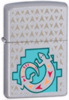 Zippo Painted Lizard Satin Chrome Lighter (24455)