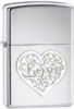 Zippo DL Love High Polish Chrome lighter (24459)