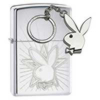Zippo Playboy lighter and key ring set (model 24464)
