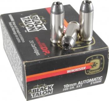 Black Talon 10mm Automatic 200 Gr. SXT Ammo S10MM - 20 Rounds