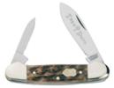 Appaloosa Bone Canoe Knife 3 5/8 Spear/Pen Blades