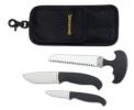 Browning Hard Core Hunter Combo Set 2 Knives 1 Saw Black handles & Sheath