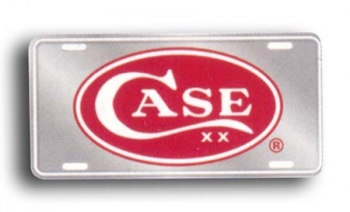 Case Red Oval License Plate CA50006
