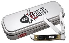 Case Olive Green Mini Trapper/ Tin knives 8961