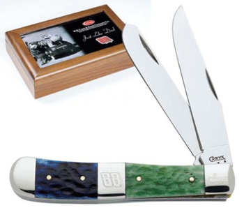 Case 8886 Dale Jr Trapper Blue and Green Handle