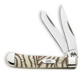 Case 8920 Tiny Trapper Knife Zebra Etched Handle
