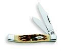 Case 62032CV Small Texas Jack 077 Amber Bone Handle